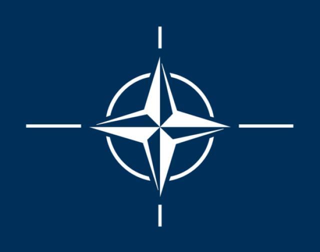 Merki Atlantshafsbandalagsins NATO.
