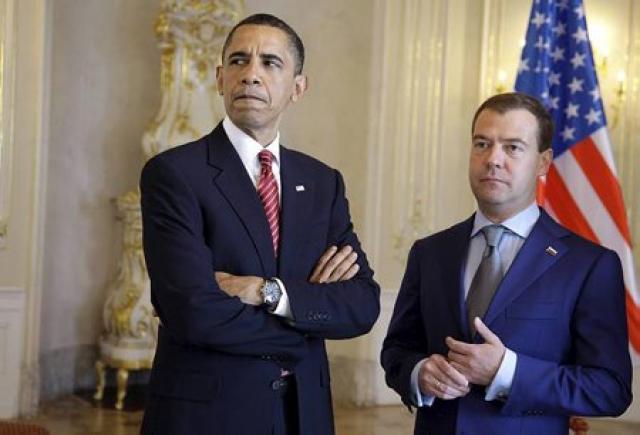 Þíða var í samskiptum Bandaríkjanna og Rússlands er þeir Barack ...