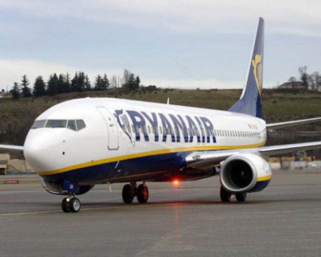 Boeing flugvél Ryanair