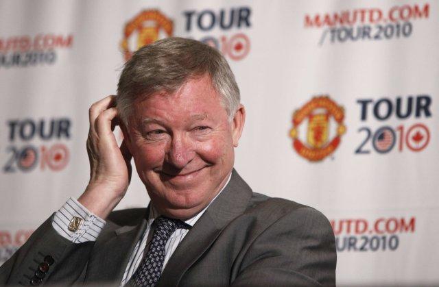 Alex Ferguson ræðir við fréttamenn í New York í kvöld.