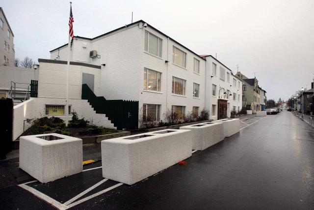 Sendiráð Bandaríkjanna við Laufásveg í Reykjavík.