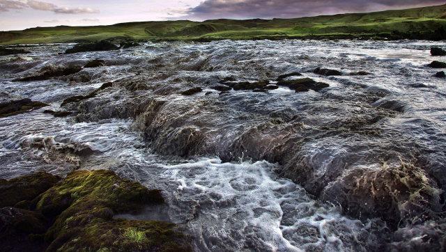 Skaftá flood water in 2010.