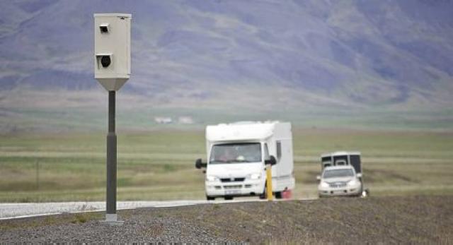 Flestir ferðamannanna eru teknir á 96-110 km/klst.