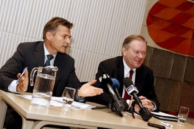 Arnór Sighvatsson, aðstoðar Seðlabankastjóri og Gunnar Andersen, forstjóri FME