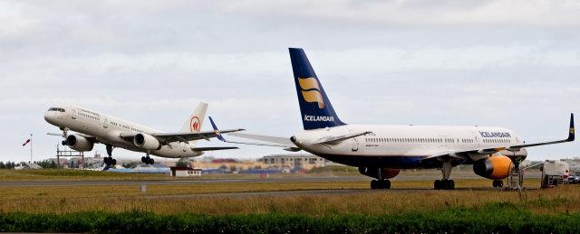 Flugvélar á Reykjavíkurflugvelli.