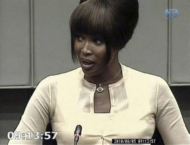 Naomi Campbell ber vitni í gær