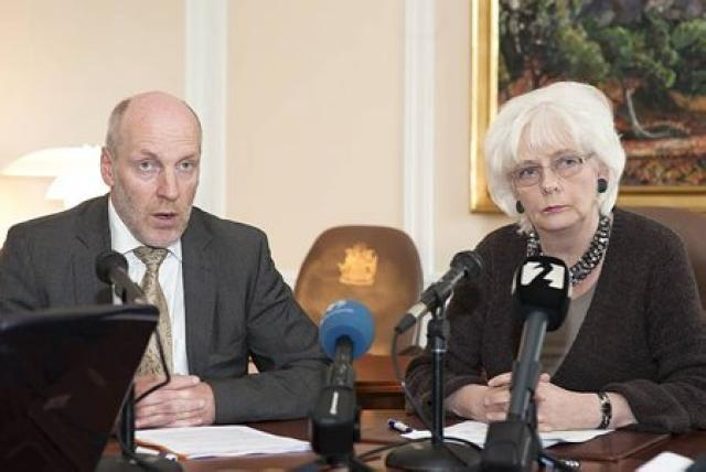 Oddvitar ríkisstjórnarinnar, Steingrímur J. Sigfússon, fjármálaráðherra og Jóhanna Sigurðardóttir, forsætisráðherra