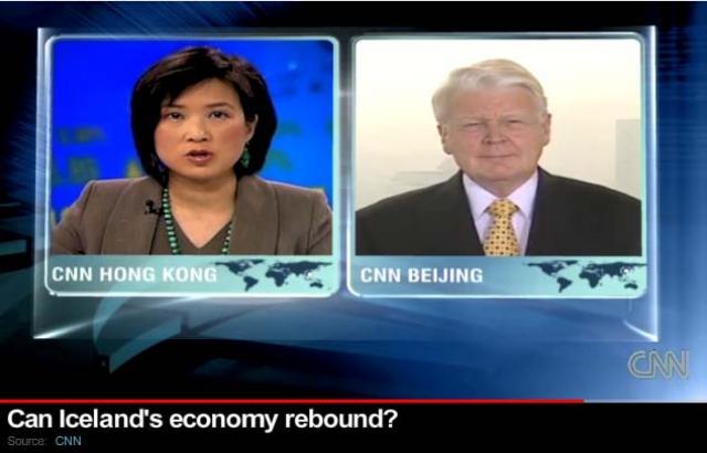 CNN ræddi við Ólaf Ragnar í Peking.