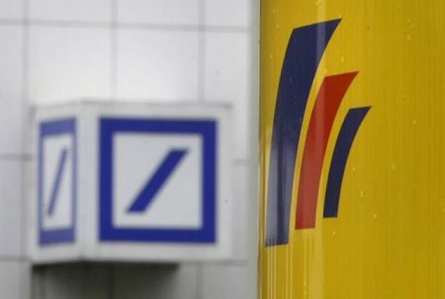 Merki Deutsche Bank í Bonn.