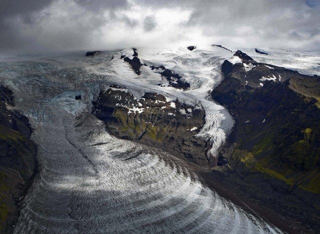 Svínafellsjökull glacier, South Iceland.