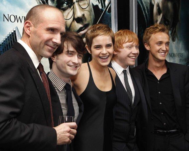 Ralph Fiennes, Daniel Radcliffe, Emma Watson, Rupert Grint og Tom …