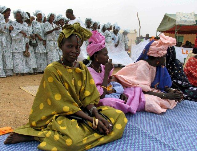Frá mótmælum í Senegal árið 2005 gegn umskurði kvenna.