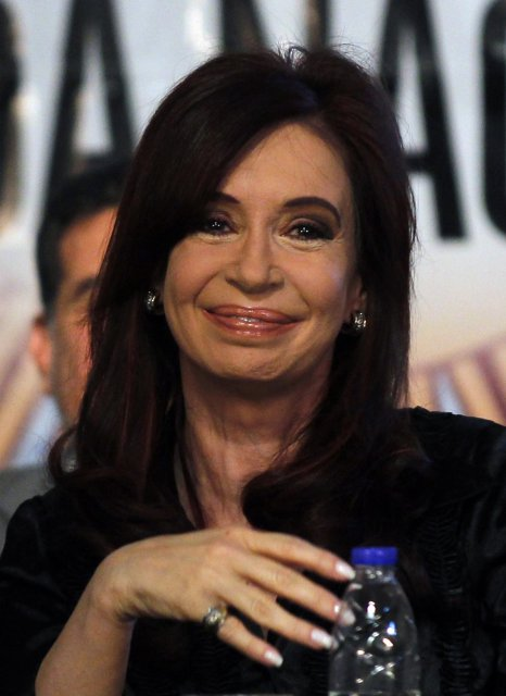 Cristina Fernandez de Kirchner held forsetaembættinu.
