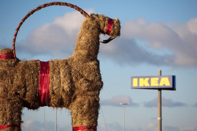 Gävle-geitin við IKEA áður en hún varð eldinum að bráð. …