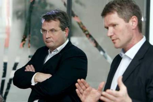 Jóhannes Sveinsson (t.h.) og Lárus Blöndal áttu sæti í Icesave-samninganefndinni.