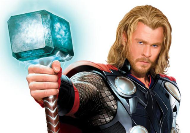 Chris Hemsworth í hlutverki þrumguðsins Þórs. Framhaldsmynd var tekin upp …