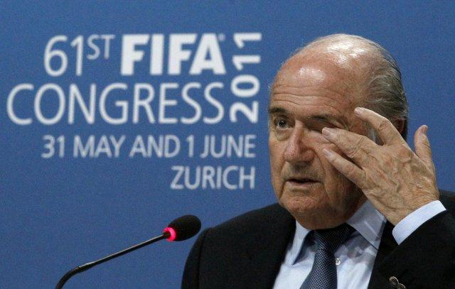 Sepp Blatter forseti Alþjóða knattspyrnusambandsins, FIFA.