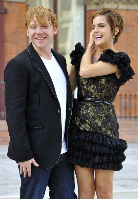 Rupert Grint og Emma Watson.