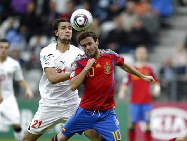 Juan Mata í leik með spænska landsliðinu.