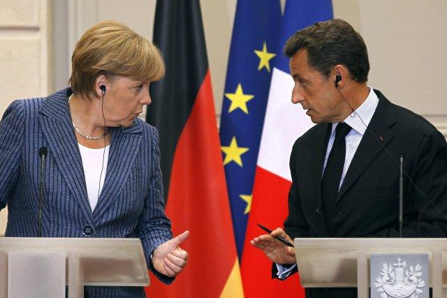Mikið hefur mætt á þeim Sarkozy og Merkel vegna vanda ...