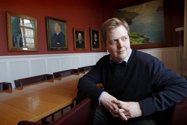 Sigmundur Davíð Gunnlaugsson formaður Framsóknarflokksins.