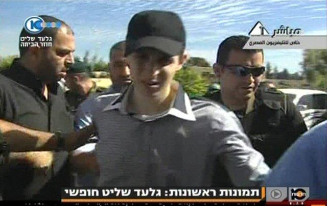 Egypsk sjónvarpsstöð birti í morgun fyrstu myndir af Gilad Shalit ...