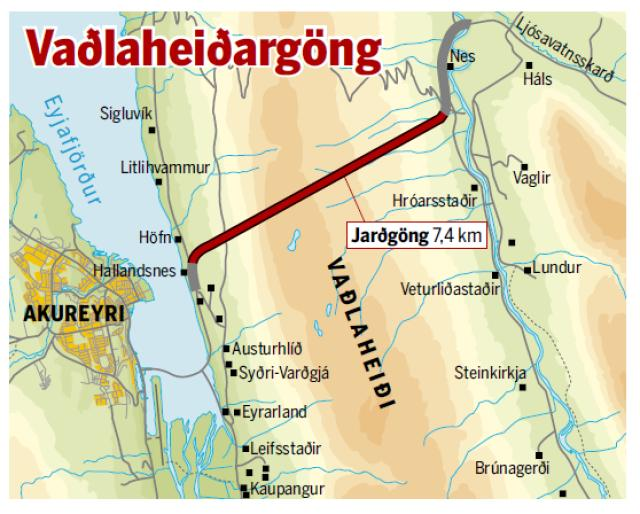 Vaðlaheiðargöng.