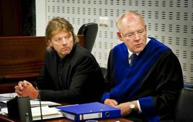 Jón Ásgeir Jóhannesson og Gestur Jónsson verjandi hans.