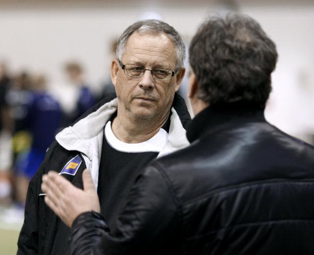 Lars Lagerbäck, landsliðsþjálfari Íslands.