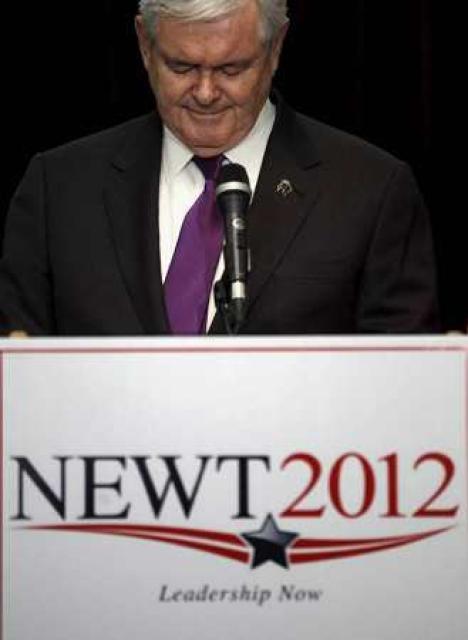 Gingrich tilkynnti ákvörðun sína í ræðu í Arlington í Virginíu.