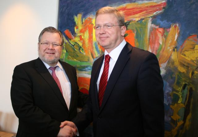 Össur Skarphéðinsson, utanríkisráðherra, og Stefan Füle, stækkunarstjóri Evrópusambandsins.