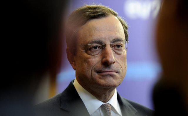 Mario Draghi bankastjóri Evrópska seðlabankans.