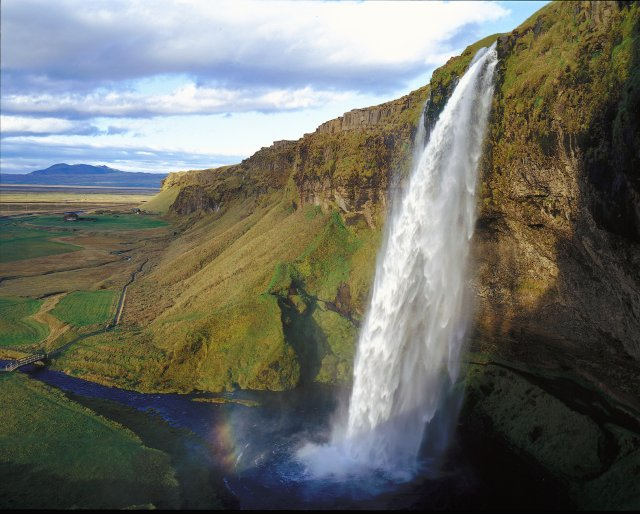 Will you be tempted by South Iceland's Seljalandsfoss waterfall?