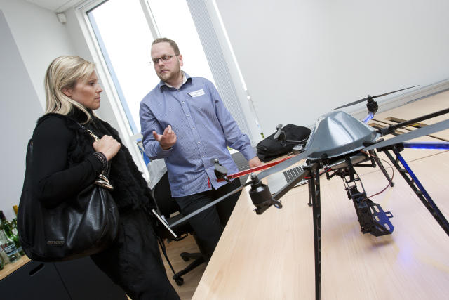 Teymin kynna verkefni sín á Startup Reykjavík.