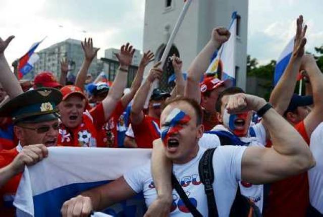 Rússneskir stuðningsmenn gengu of langt á föstudag að mati UEFA.