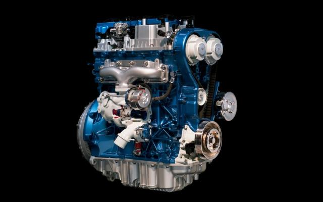 Hverfilblásna Ford Ecoboost 1,0 lítra bensínvélin er smá en kná.