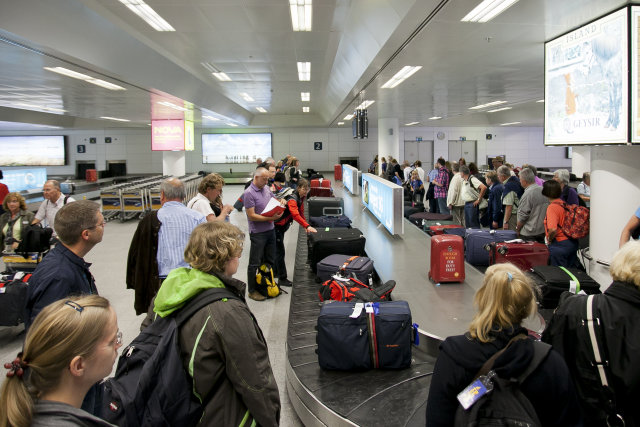Arrivals at Iceland's main international airport have been disrupted.