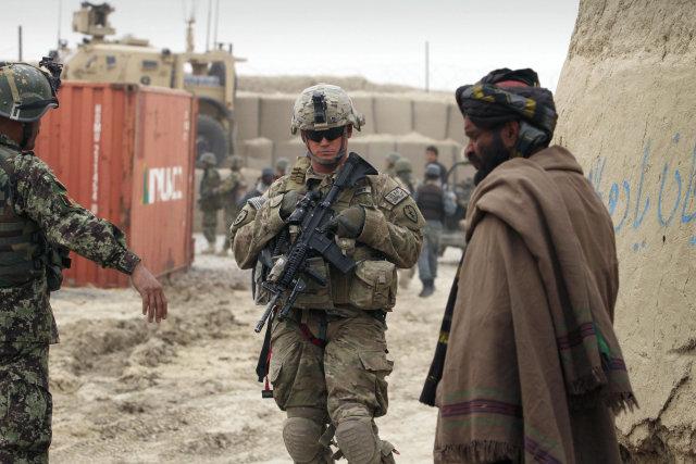 Bandarískur hermaður í Afganistan í dag.