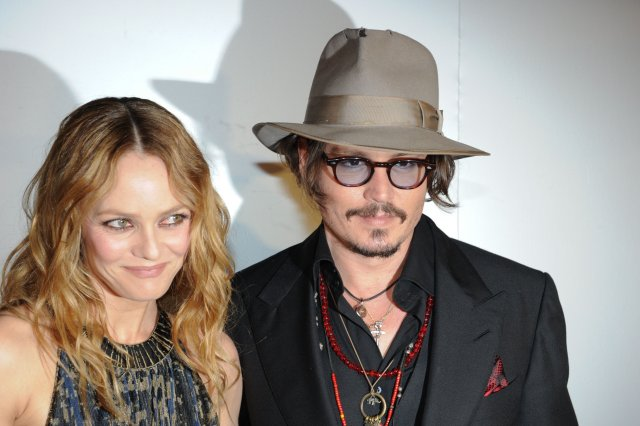 Johnny Depp og Vanessa Paradis árið 2010.