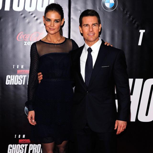 Katie Holmes og Tom Cruise.