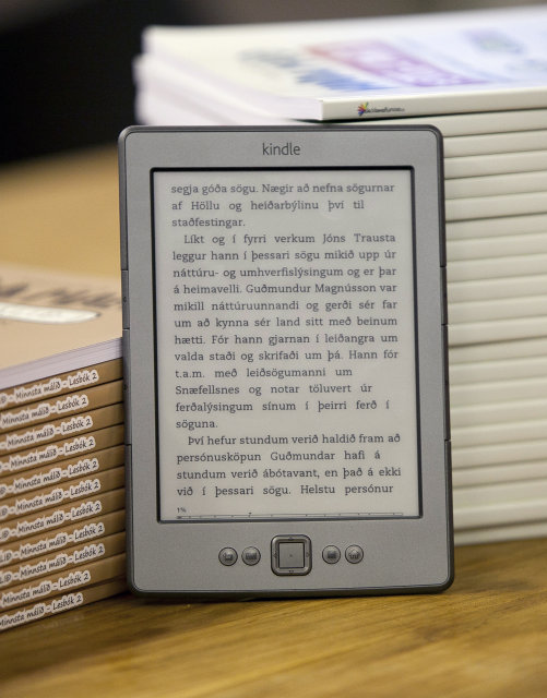 Lestölva af gerðinni Kindle.