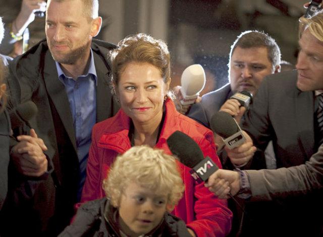 Sidse Babett Knudsen í hlutverki sínu sem Birgitte Nyborg Christensen ...