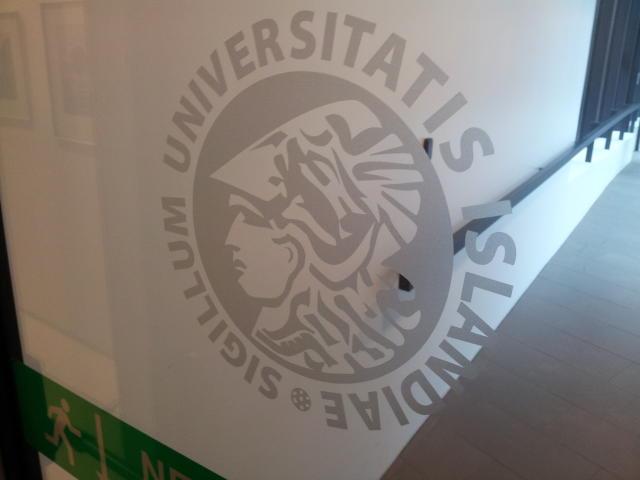 The University logo.