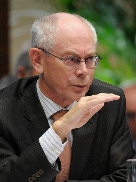 Herman Van Rompuy, forseti Evrópusambandsins.