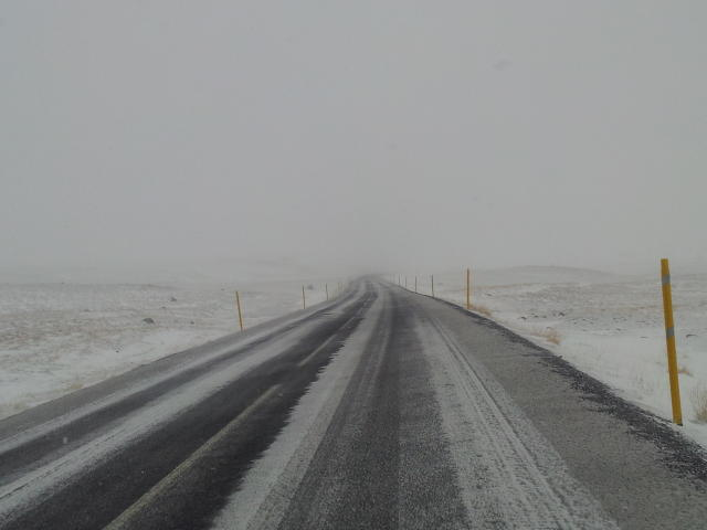 The roads will be this color today.