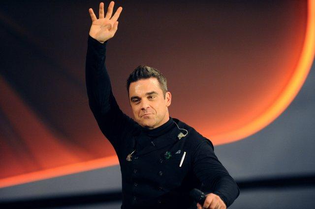 Robbie Williams var heima í 3 ár.
