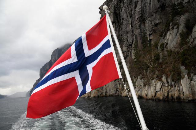 Mikið óveður hefur gengið yfir Noreg.