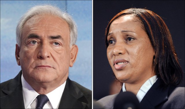 Nafissatou Diallo og Dominique Strauss-Kahn.