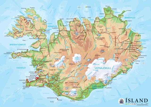 Edward segir að Ísland sé eins og önd í laginu.