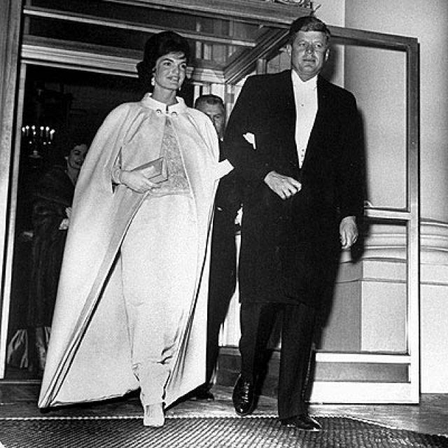 Jackie Kennedy og John F. Kennedy.